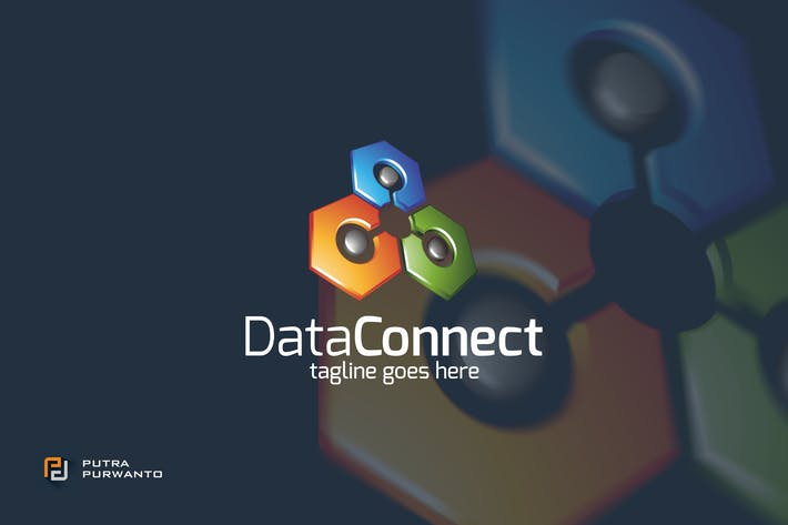 Cover Image For Data Connect / Technology - Logo Template