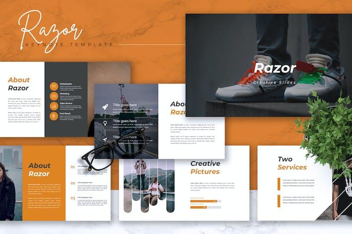 Thumbnail for RAZOR - Creative Keynote Template