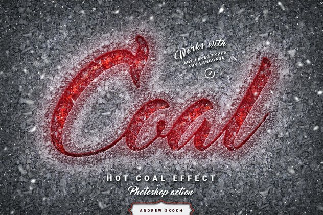 Hot Coal - Photoshop Action
