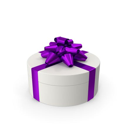 Ring Gift Box White Purple