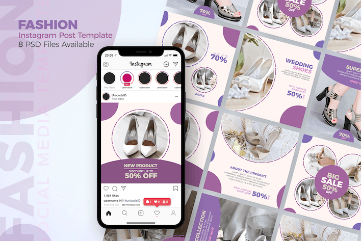 Cover Image For Fashion - Instagram Post Template