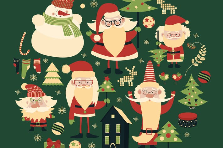 Thumbnail for Vector collection of christmas items.