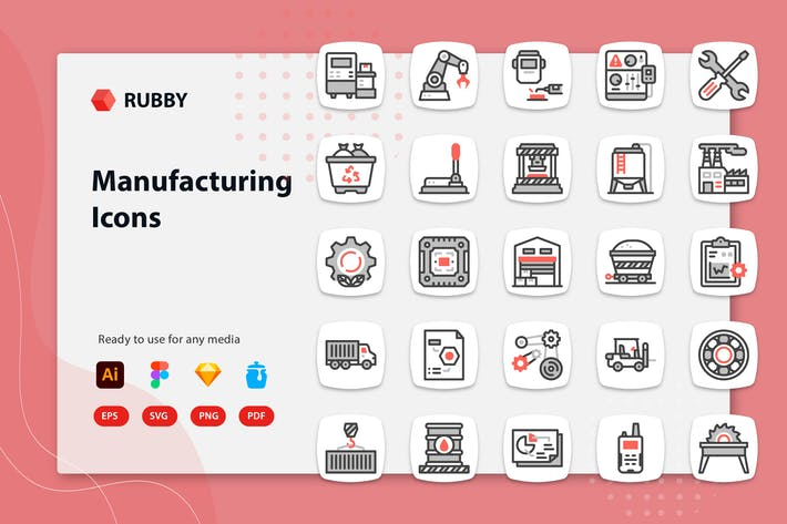 Rubby - Manufacturing Icons