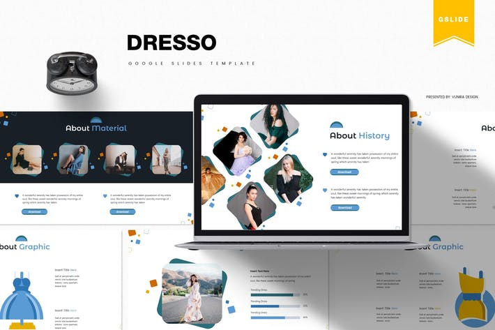 Thumbnail for Dresso | Google Slides Template