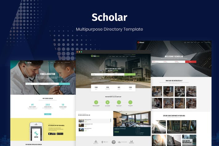 Thumbnail for Scholar - Multipurpose Directory Template