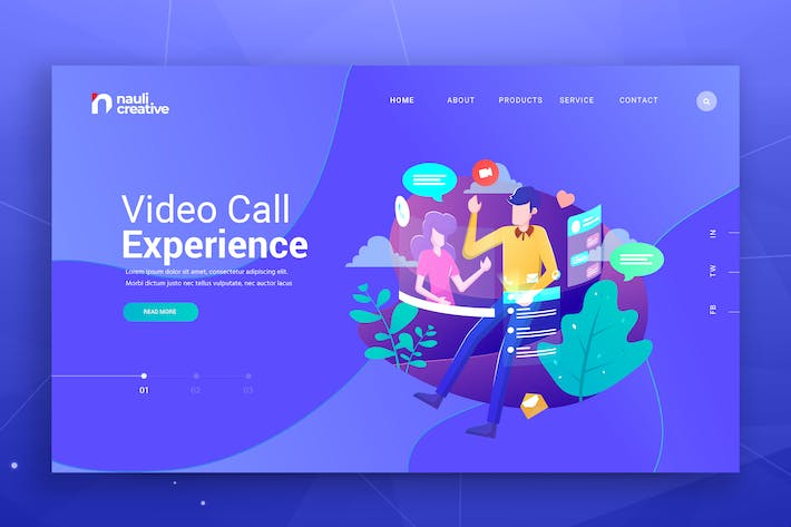 Thumbnail for Video Call Experience Web PSD and AI Vector