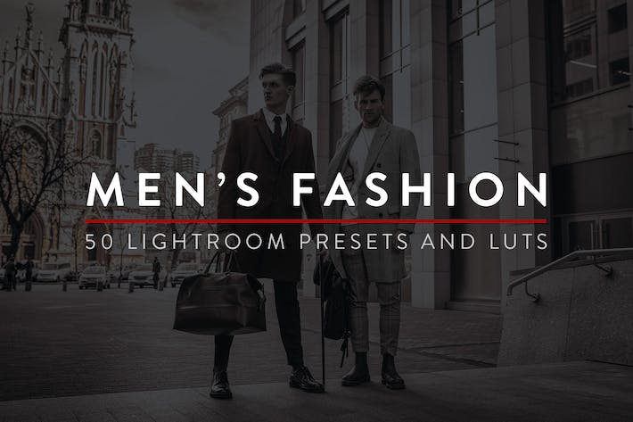Thumbnail for 50 Men's Fashion Lightroom Presets and LUTs