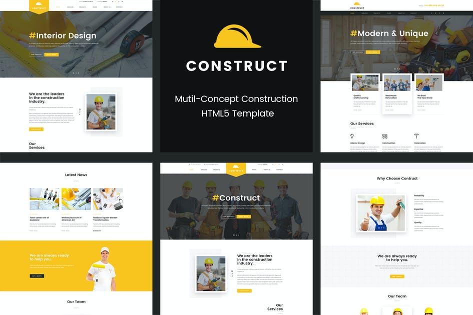 Download Construct | Mutil-Concept Construction PSD Templat by Leonard_Design