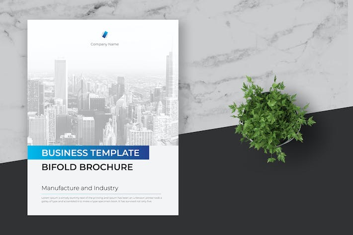 Thumbnail for Clean and Minimal Business Brochure