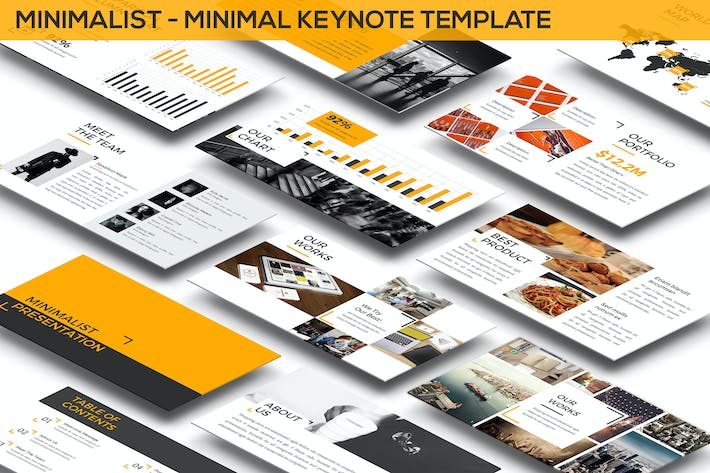 Thumbnail for Minimalist - Minimal Keynote Template