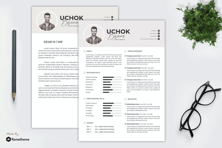Thumbnail for Minimalist Resume Template vol. 34