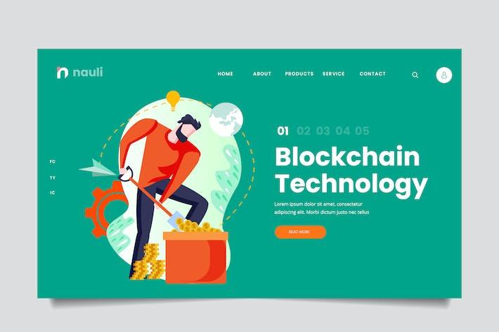 Thumbnail for Blockchain Technology Web Header PSD and AI Vector