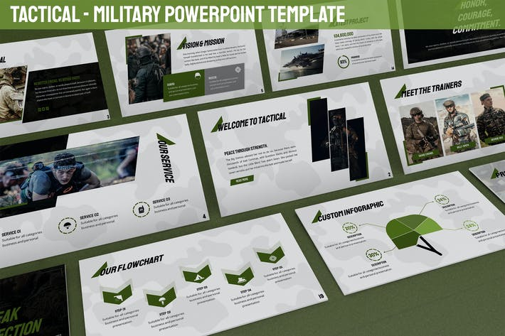 Thumbnail for Tactical - Military Powerpoint Template