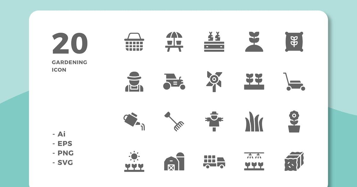 Download 20 Gardening Icons (Solid) by deemakdaksinas