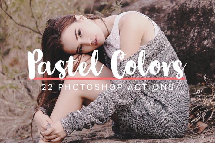 Thumbnail for 22 Soft Pastel Photoshop Actions