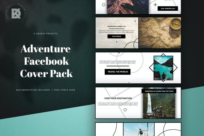 Thumbnail for Adventure Facebook Cover Pack