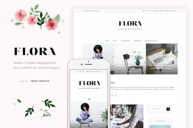 Flora - Elegant Blogging Theme