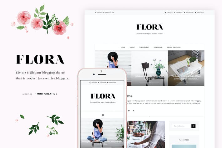 Thumbnail for Flora - Elegant Blogging Theme