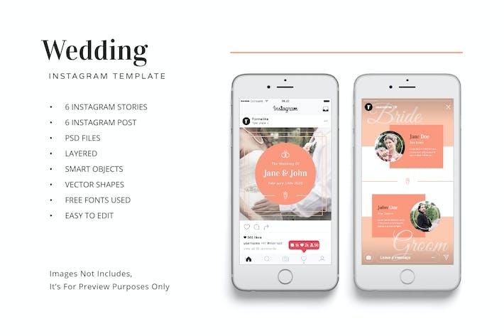 Thumbnail for Modèle de kit Instagram de mariage