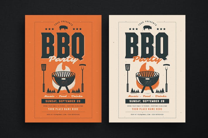 Thumbnail for BBQ Event Party Flyer