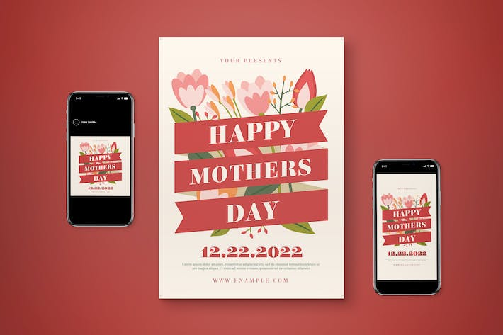 Happy Mother's Day Flyer Set
