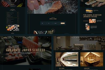 Romajimono Sushi & Sashimi Restaurants Website UI
