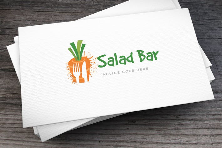 Cover Image For Salad Bar Logo Template