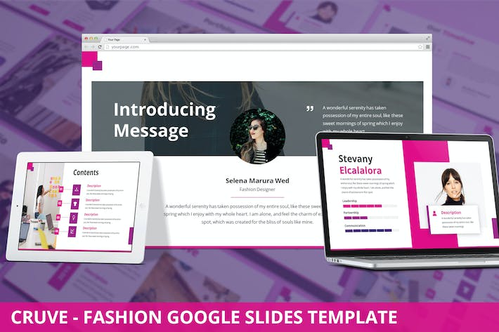 Thumbnail for Cruve - Fashion Google Slides Template
