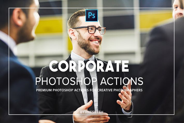 Thumbnail for Corporate Photoshop actions