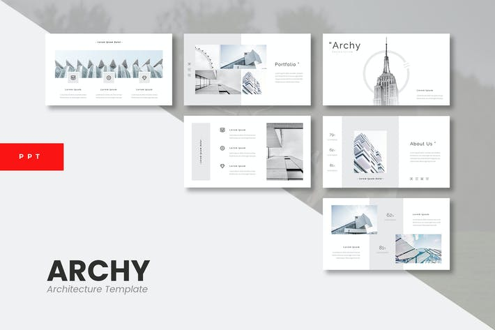 Thumbnail for Archy - Архитектура Powerpoint Шаблон