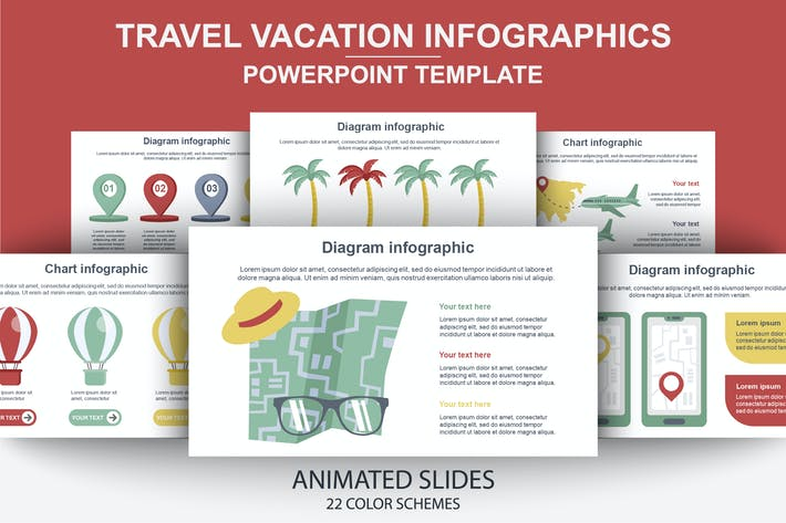 Thumbnail for Travel Infographics Powerpoint Animated Slides