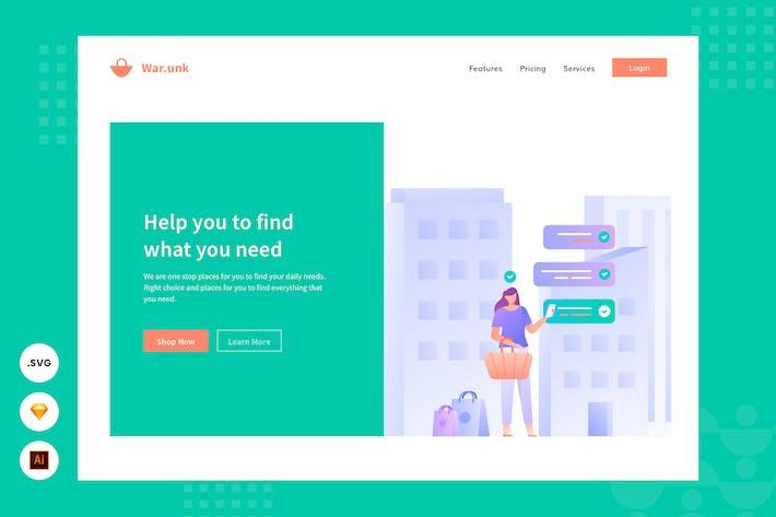 Daily Needs - Website Header - Illustration