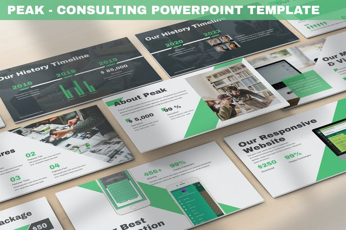 Thumbnail for Peak - Consulting Powerpoint Template