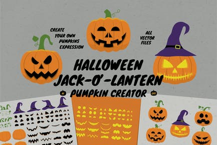 Pumpkin Jack O Lantern Expression Creator
