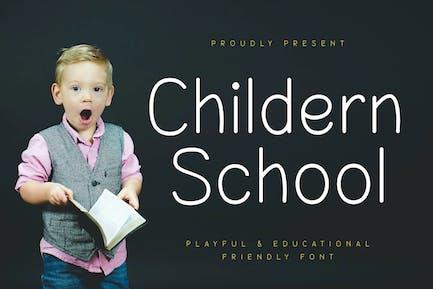 Childern School Education Font