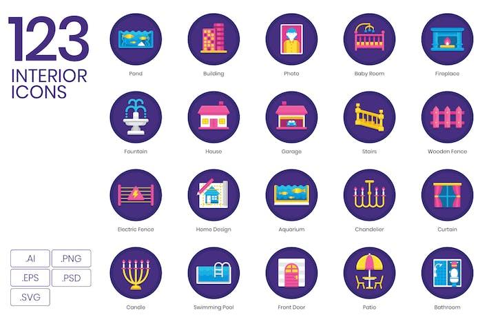 Thumbnail for 123 Interior Flat Icons