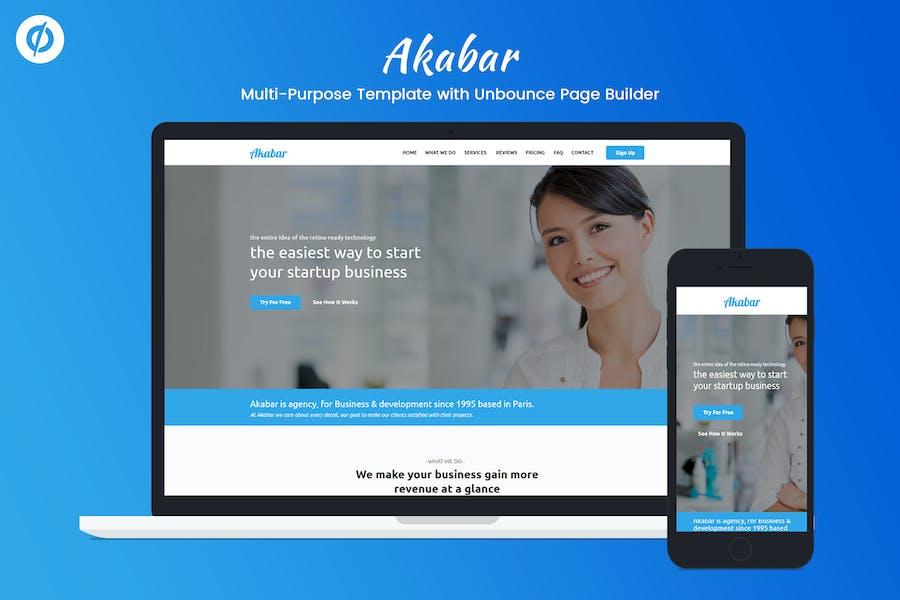 Akabar - Multi-purpose Unbounce Landing Page