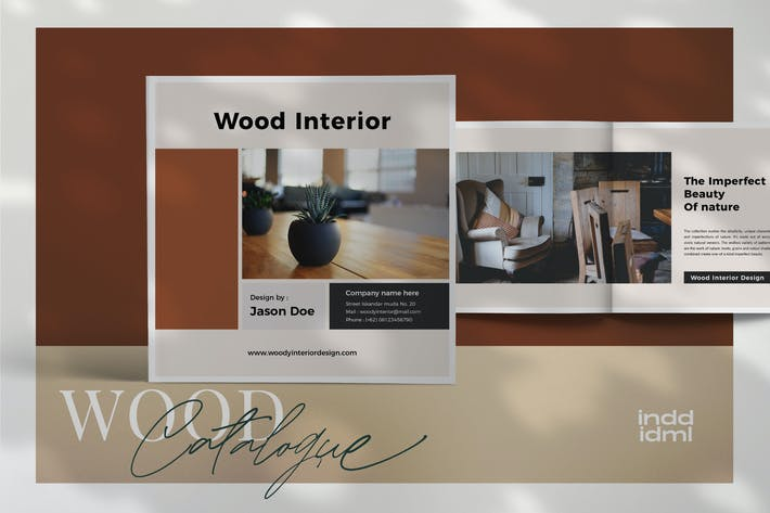 Cover Image For Wood -  Interior Square Brochure