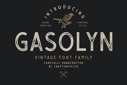 Gasolyn - Vintage Familia tipográfica