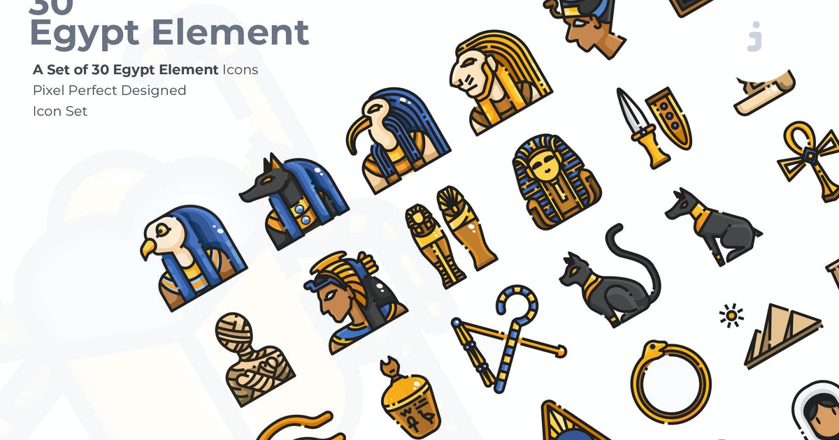 Download 30 Egypt Element Icons by Justicon