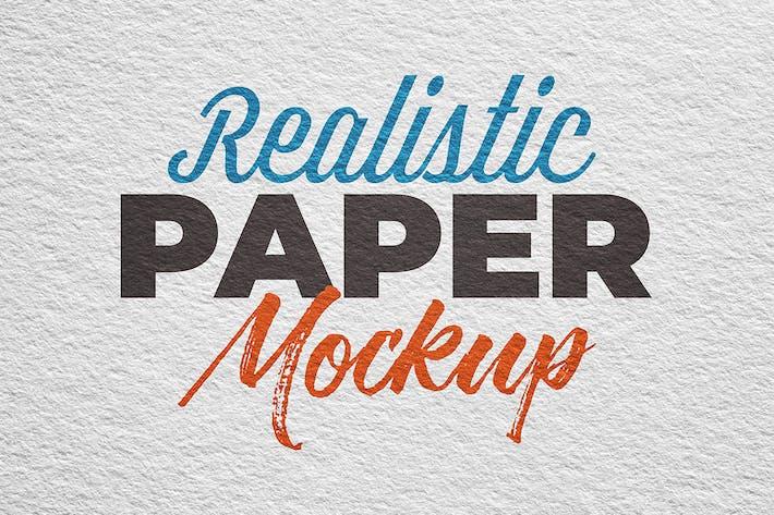 Thumbnail for SGM - Paper Logo Mockup. 03