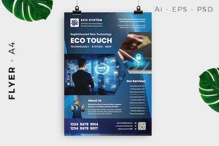 Computer Technology Flyer Design