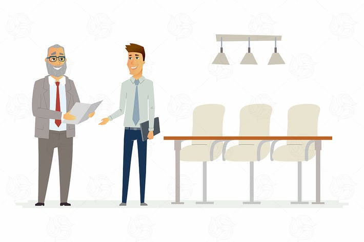 Cover Image For Business relationship - vector illustration