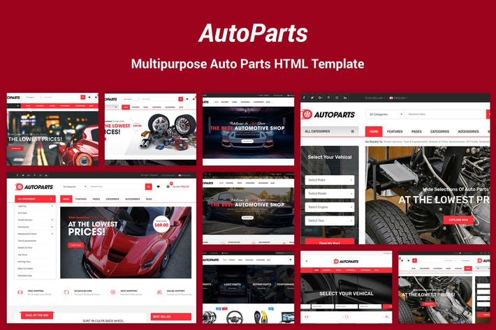 Thumbnail for AutoParts - Equipments, Accessories HTML Template