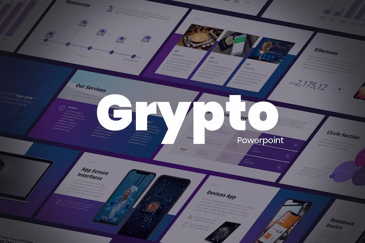 Thumbnail for Grypto - Tech Powerpoint Template