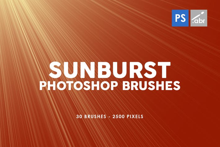 Thumbnail for 30 Sunburst Photoshop Stamp Brushes