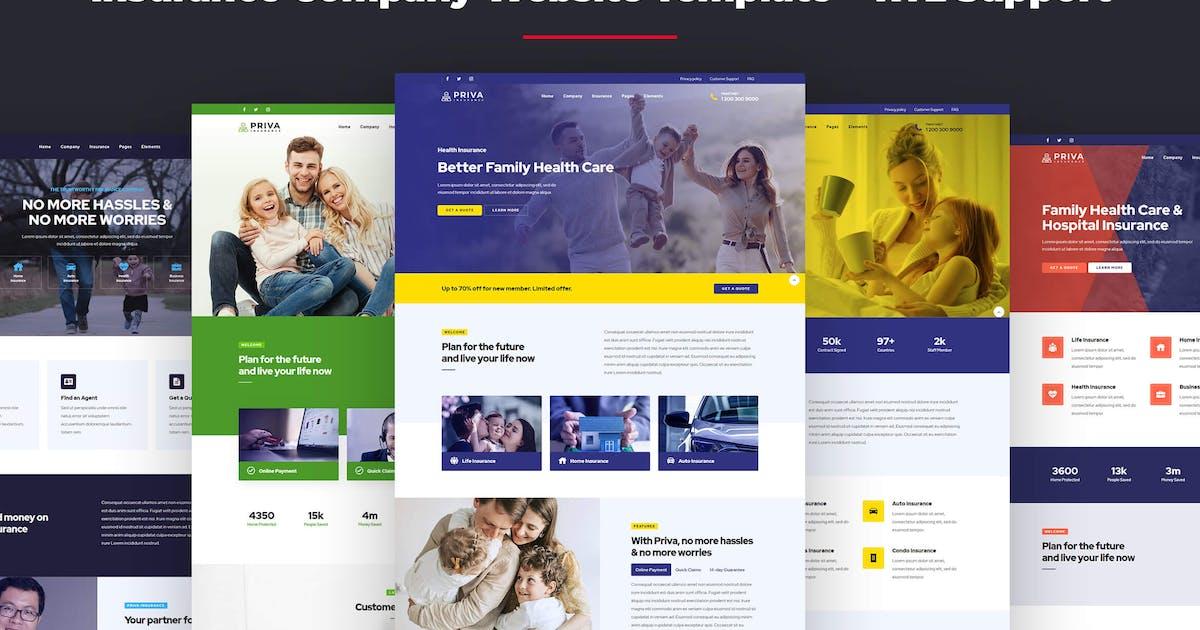 Download Priva - Insurance Company Website Template + RTL by designesia
