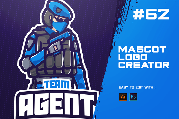 Thumbnail for AGENT - E-Sports Logo Creator