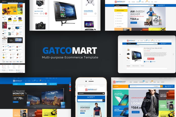 Thumbnail for Gatcomart - Отзывчивый Magento Тема