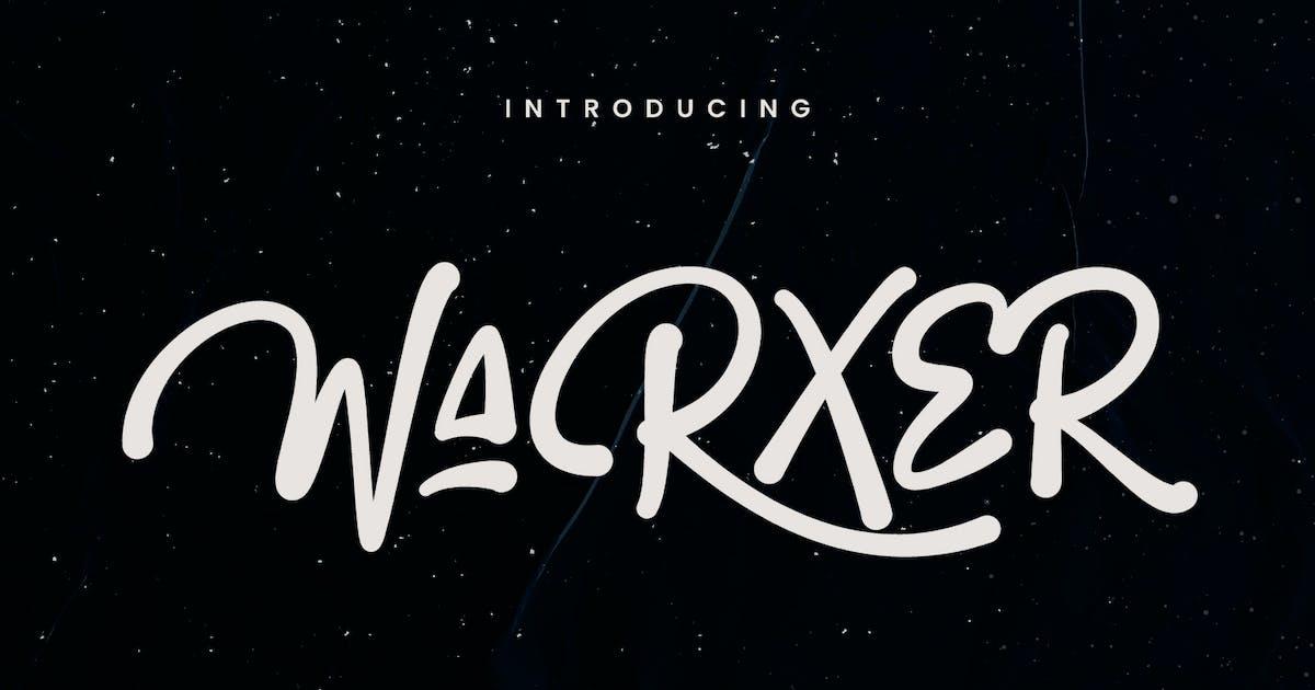 Download Warxer Graffiti Font by maulanacreative